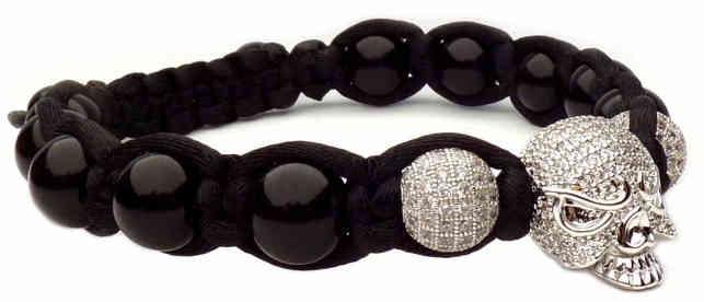 bracelet tete de mort argent