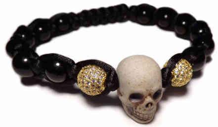 bracelet tete de mort johnny hallyday